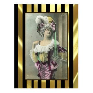Montrez à fille le danseur français osé carte postale