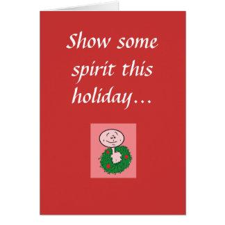 Montrez à un certain esprit ces vacances… cartes de vœux