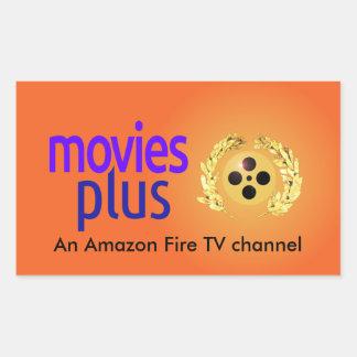 Montrez à votre les films plus la fan sur votre sticker rectangulaire