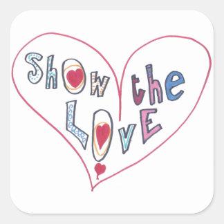 Montrez l'amour sticker carré