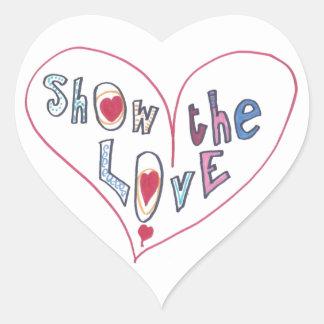 Montrez l'amour sticker cœur