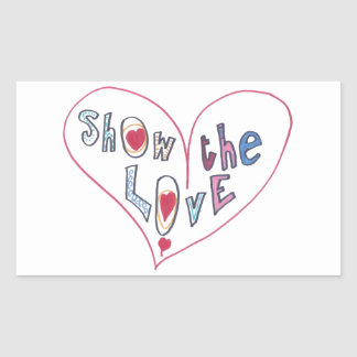 Montrez l'amour sticker rectangulaire