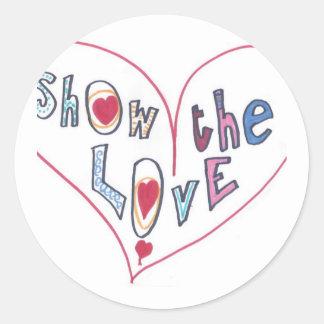 Montrez l'amour sticker rond