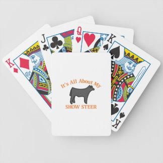 Montrez le boeuf jeux de cartes bicyle