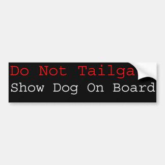 Montrez le chien à bord autocollant pour voiture