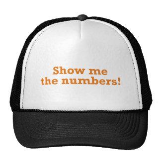Montrez-moi les nombres ! casquette trucker