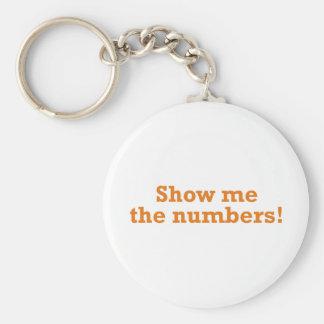 Montrez-moi les nombres ! porte-clé rond