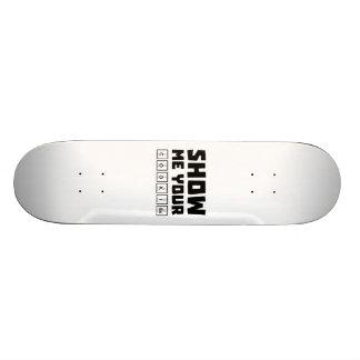 Montrez-moi votre ballot Zh454 de biscuits Plateaux De Skateboards Customisés