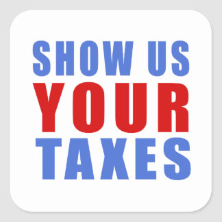 Montrez-nous vos impôts sticker carré