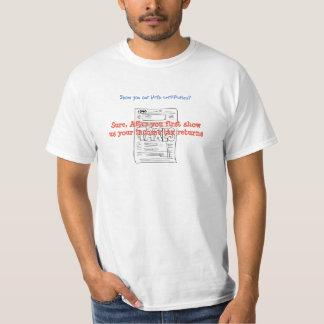 Montrez-nous votre chemise de retour-pièce en t t-shirt