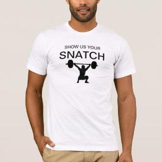 Montrez-nous votre haltérophilie de bribe t-shirt
