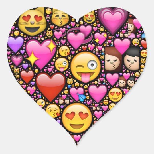 montrez votre amour et affection par l 39 emoji art sticker c ur zazzle. Black Bedroom Furniture Sets. Home Design Ideas
