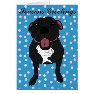 Monty le bull-terrier du Staffordshire Carte De Vœux