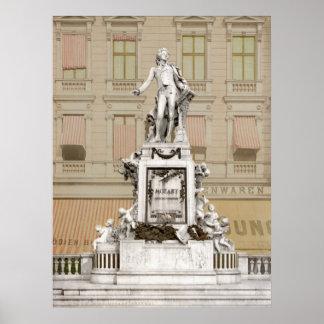 Monument de Mozart Poster