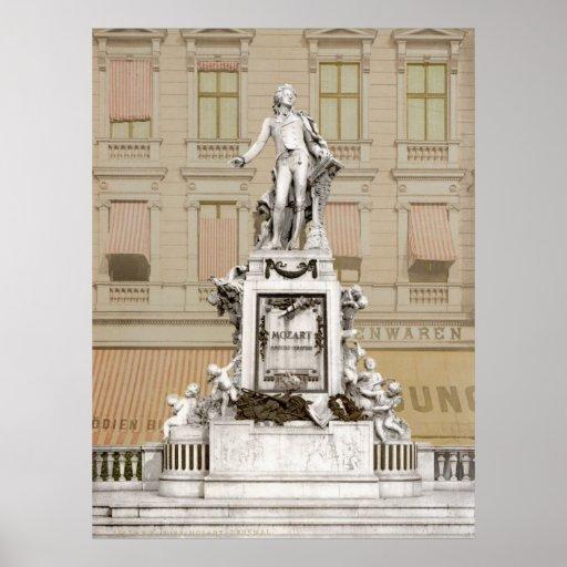 Monument de Mozart Posters