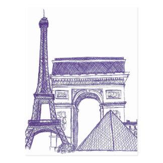 Monuments de Paris Carte Postale