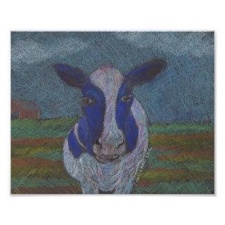 MOO ! Copie d'art de vache du Holstein Impressions Photographiques