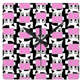 MOO de vache à MOO Horloge Carrée