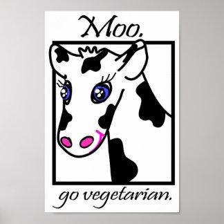 MOO. Vont le végétarien Posters