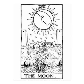 Moon de carte de tarot ' carte postale