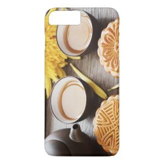 Mooncake et thé, mi festival chinois d'automne coque iPhone 8 plus/7 plus