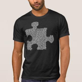 Morceau bleu de puzzle d'autisme t-shirt