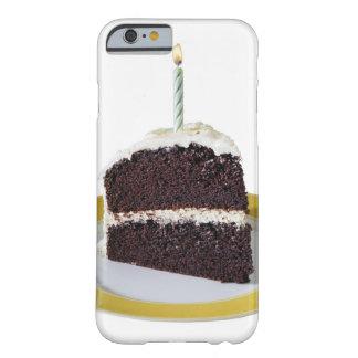 Morceau de gâteau d'anniversaire coque iPhone 6 barely there