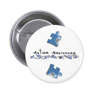 Morceaux bleus de puzzle - sensibilisation sur l'a pin's