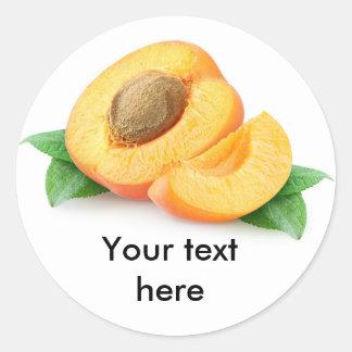 Morceaux d'abricot sticker rond