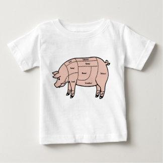 Morceaux de porc t-shirt pour bébé