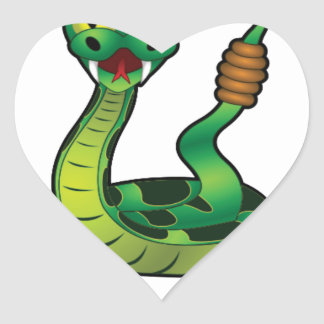 mordez-moi serpent sticker cœur