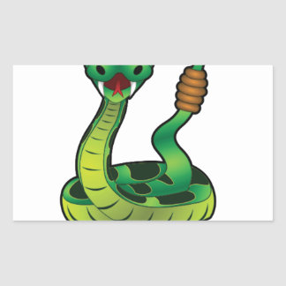 mordez-moi serpent sticker rectangulaire