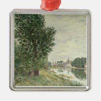 Moret-sur-Loing d'Alfred Sisley   Ornement Carré Argenté