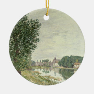 Moret-sur-Loing d'Alfred Sisley | Ornement Rond En Céramique