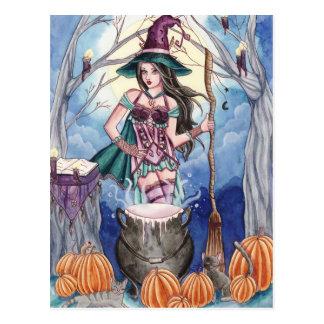 Morissa - carte postale de sorcière