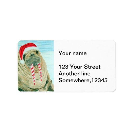 Morse de Noël Étiquette D'adresse