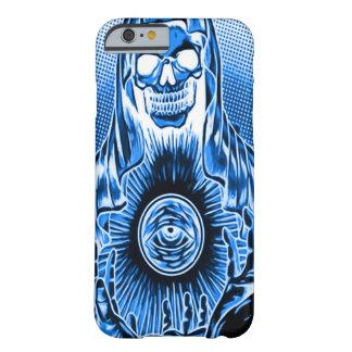 Mort bleue de crâne de Skully la rétro Coque Barely There iPhone 6