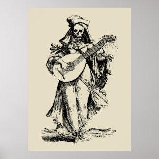 Mort Musician - black impression Posters