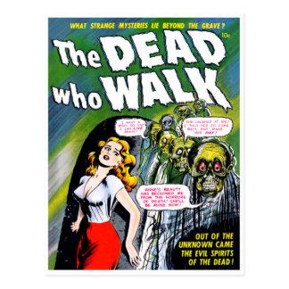 Mort qui promenade - horreur vintage de zombi carte postale