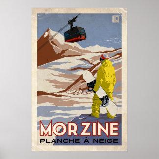 Morzine - effet vintage posters