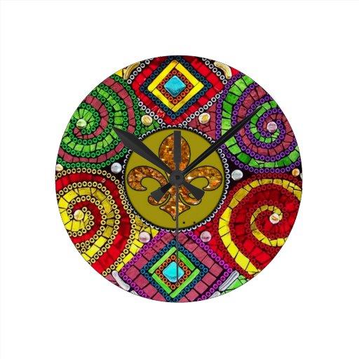 mosa que abstraite de fleur de lis tile color e zazzle. Black Bedroom Furniture Sets. Home Design Ideas