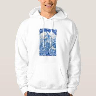 Mosaïque bleue de tuile de Jésus, Portugal Veste À Capuche