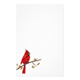 Mosaïque cardinale rouge papeterie