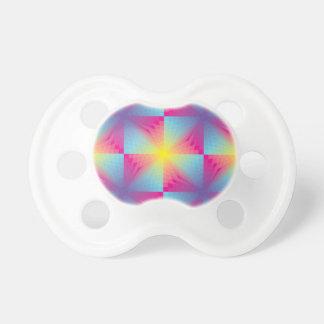 Mosaïque carrée abstraite de vecteur tétine pour bébé