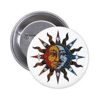Mosaïque céleste Sun et lune Badge