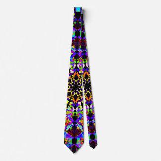 Mosaïque colorée cravate
