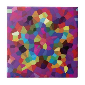Mosaïque colorée d'étoile petit carreau carré