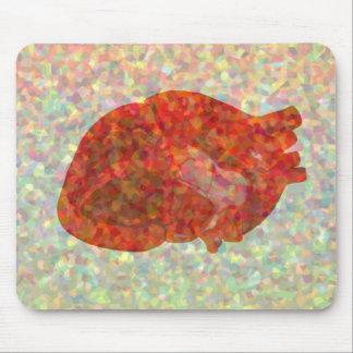 Mosaïque de coeur tapis de souris