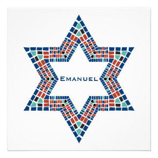 Mosaïque de David d étoile d Emanuel d invitation