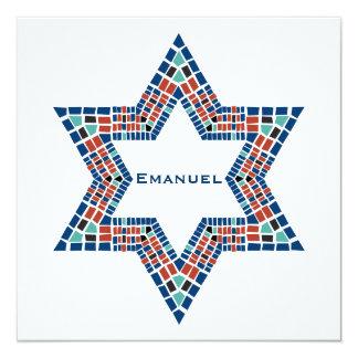 Mosaïque de David d'étoile d'Emanuel d'invitation Carton D'invitation 13,33 Cm